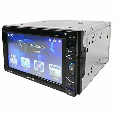 """6.2"""" DIN TOUCHSCREEN STEREO Rear Cam"""