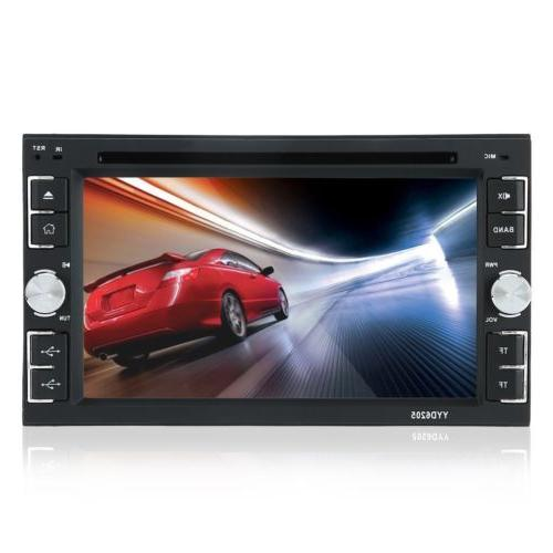 6.2'' HD Touch Double DVD CD Player Bluetooth Radio BT
