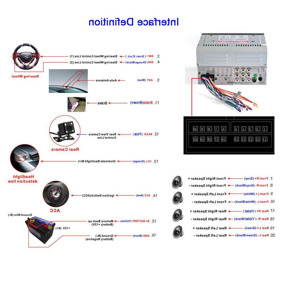 "6.2"" Stereo Radio CD MP5 USB Bluetooth"