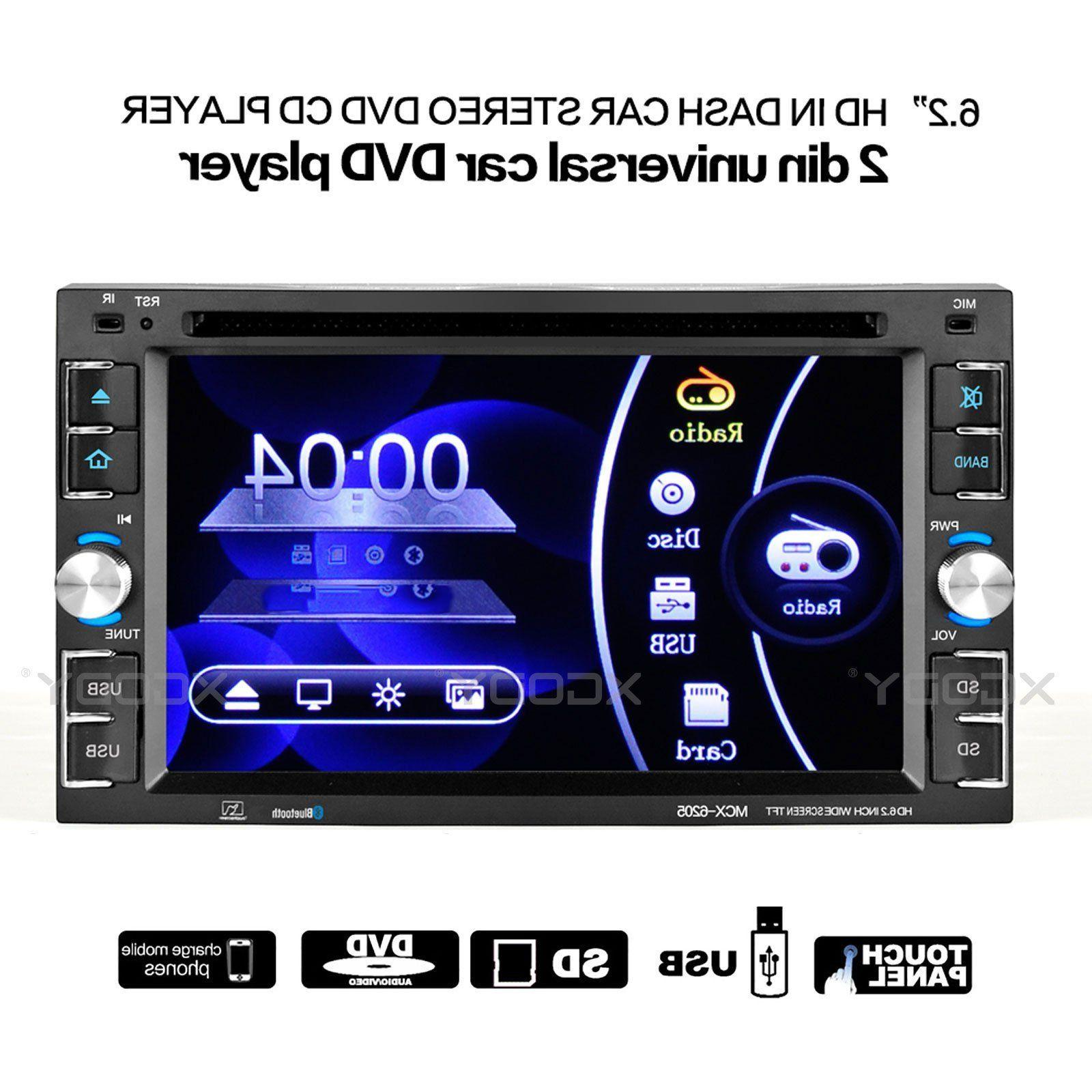 "6.2"" Touch Screen Car Stereo Radio MP5 Player DVD CD Bluetoo"