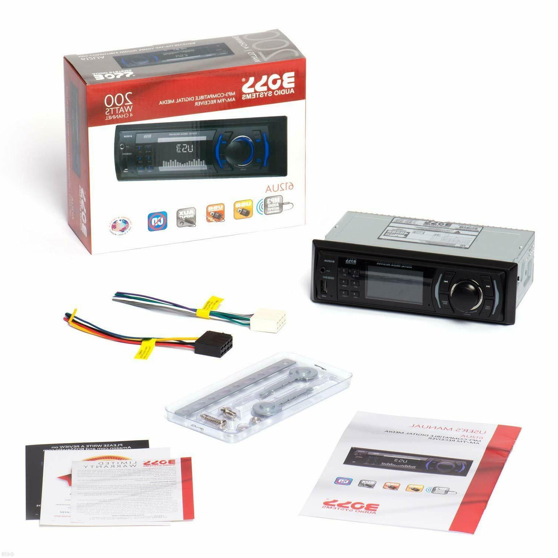 BOSS Audio 612UA Car Stereo - No CD DVD Player, MP3, USB, AU