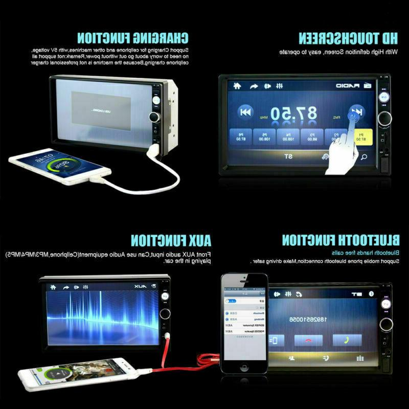 "7"" HD 1080P Car FM/MP5 Player Bluetooth Stereo Radio In-Dash"