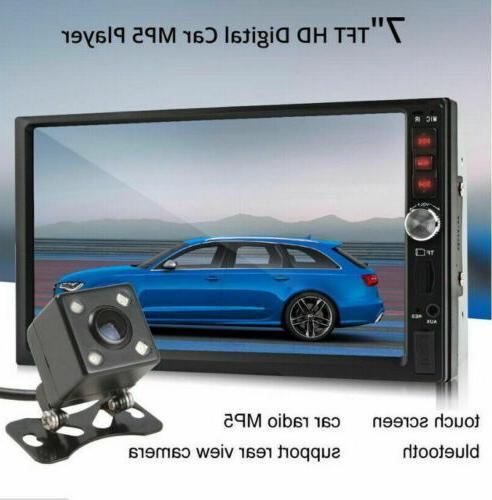 "7""2 Din Screen Car Radio+Camera Link Player"
