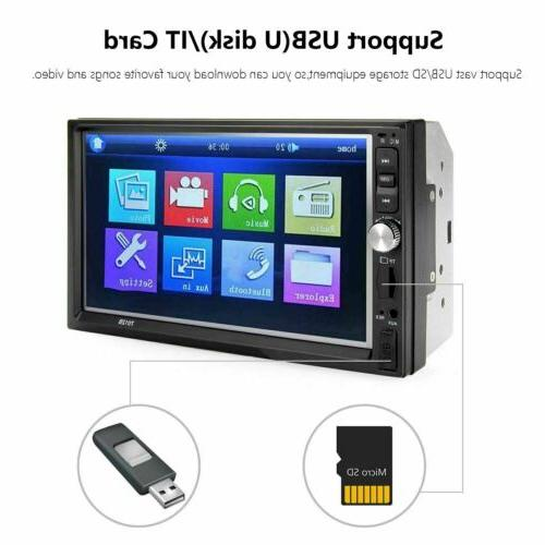 "7""2 Touch Car Radio+Camera Link FM Player"