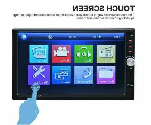 "7""2 Car Radio+Camera Bluetooth Mirror Link MP5 Player"
