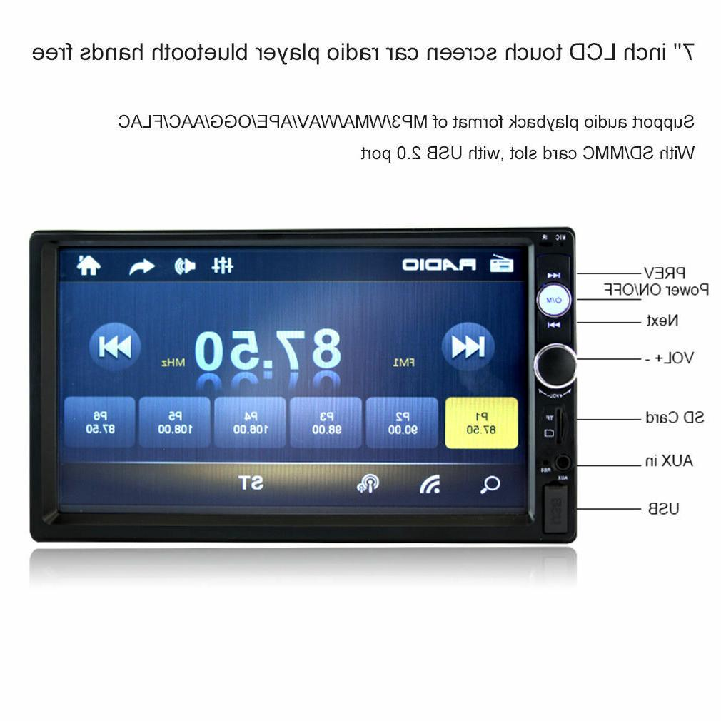 "7"" MP5 Player Bluetooth Touch Stereo HD"