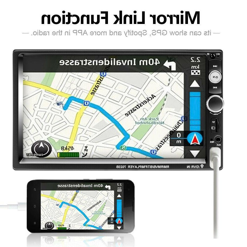 """7"""" Radio Player Touch Screen Mirror Link"""