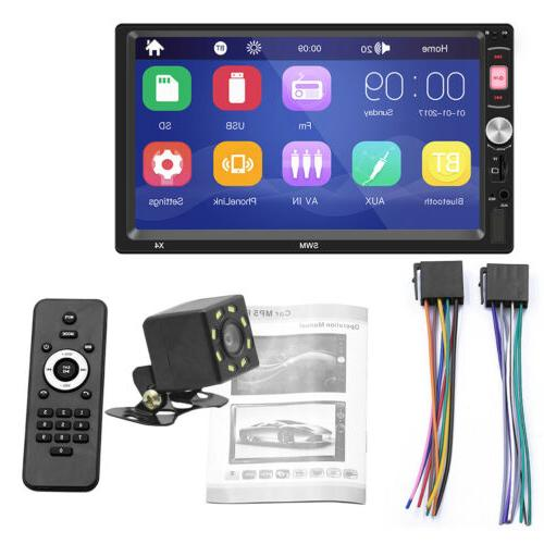 "7"" Car Radio Touch BT FM Universal LED Camera"
