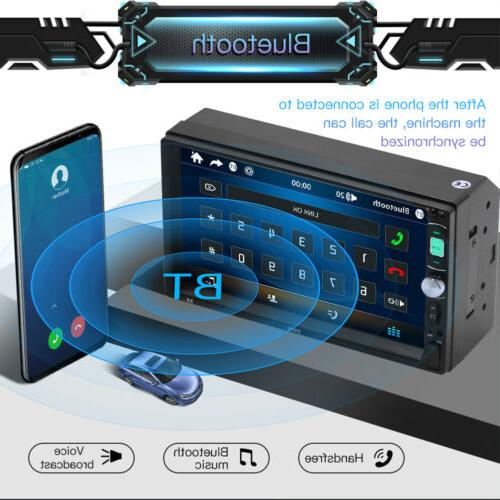 "7"" 2DIN Car Radio Touch FM LED Camera"