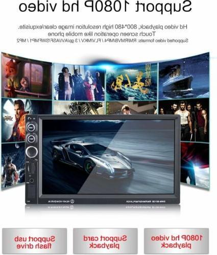 "7"" 2DIN dash Touch Screen Radio MP5 DVD Player Bluetooth EK"