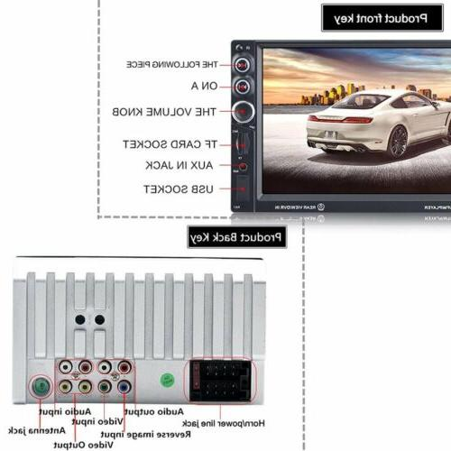 7inch 2DIN dash Touch stereo Radio DVD Player Bluetooth