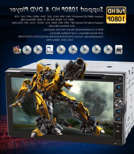 """7"""" Double 2 Car DVD Player with Camera"""