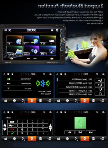"""HD 7"""" In Dash Double 2 Din Stereo High Sensitive Touchscreen"""