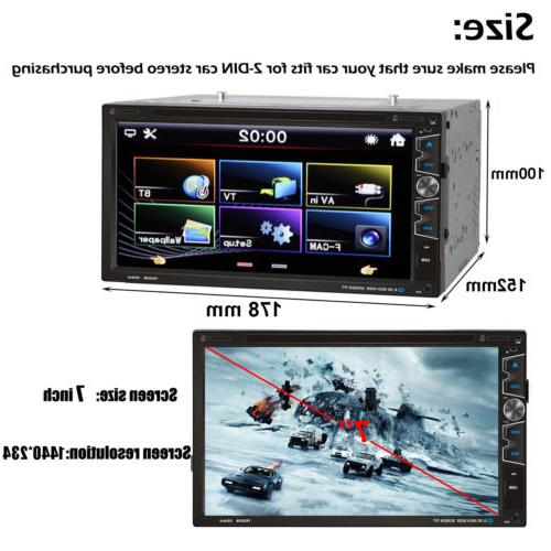 Double Car Stereo High Touchscreen