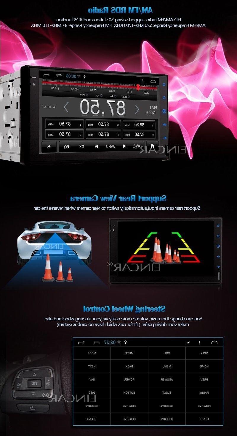 EinCar 7'' Android Quad Core Double Car Stereo Dash unit