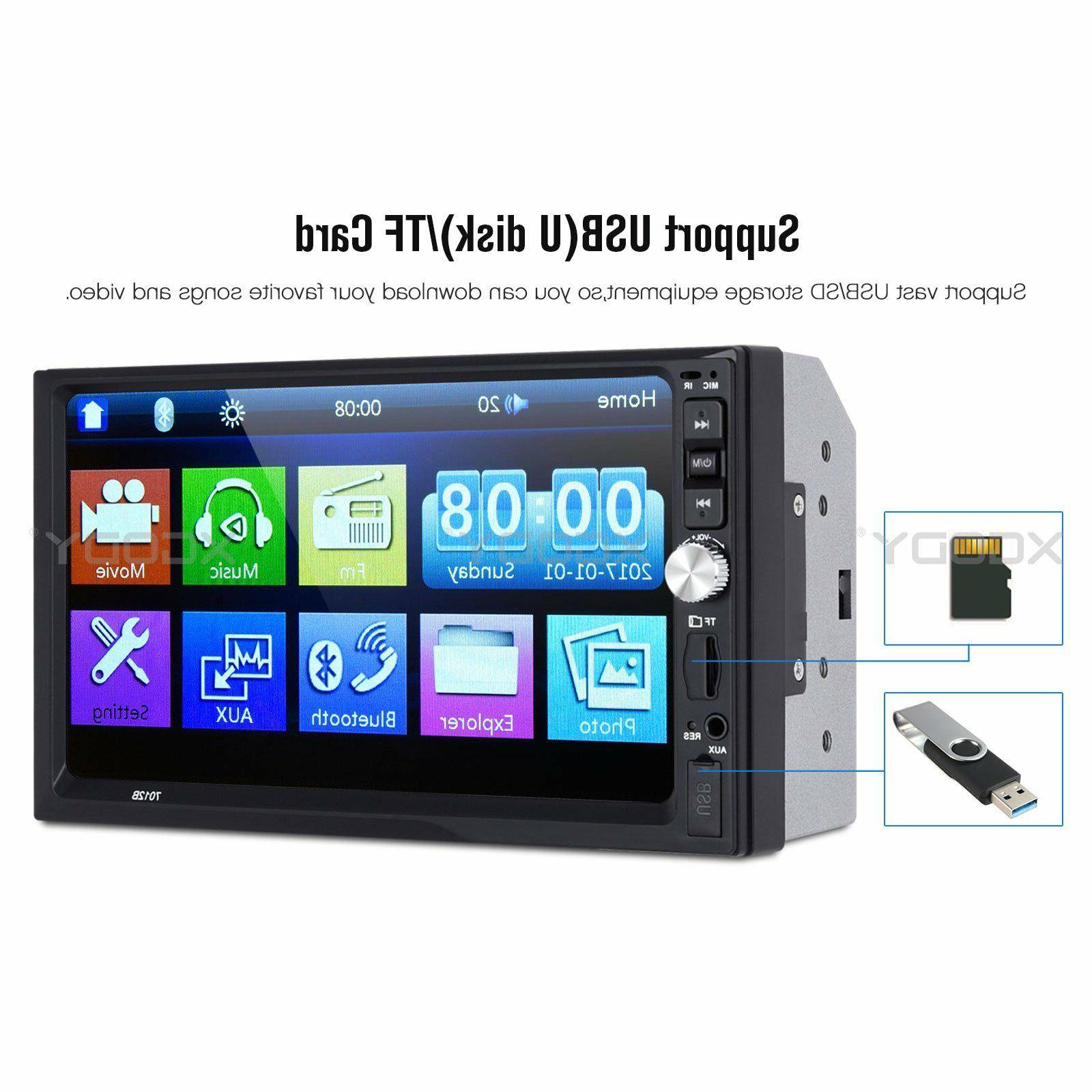 """7"""" Stereo MP5 Player Mirror Link AUX 2 DIN US"""