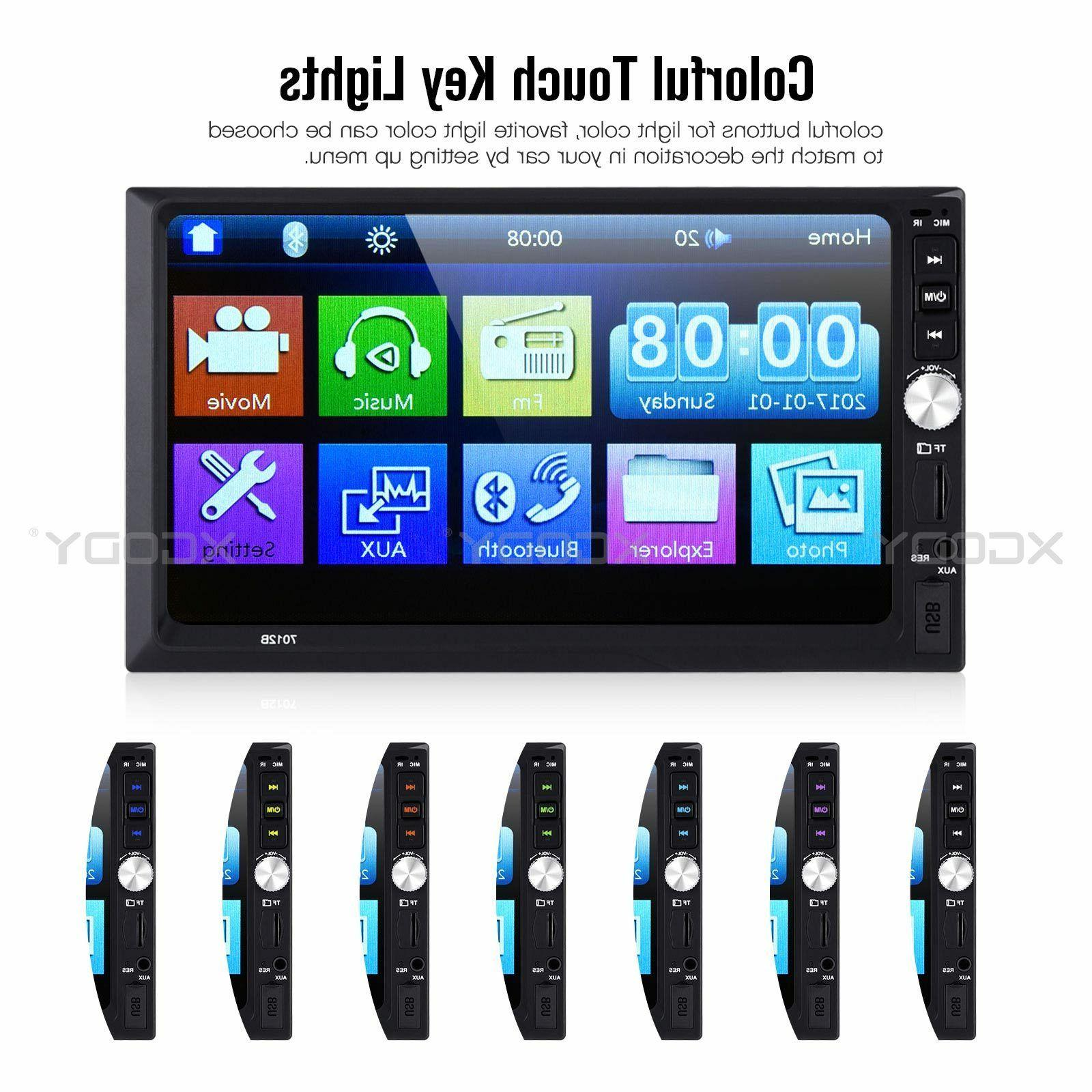 """7"""" Stereo MP5 Player Bluetooth Mirror Link USB 2 + CAM US"""