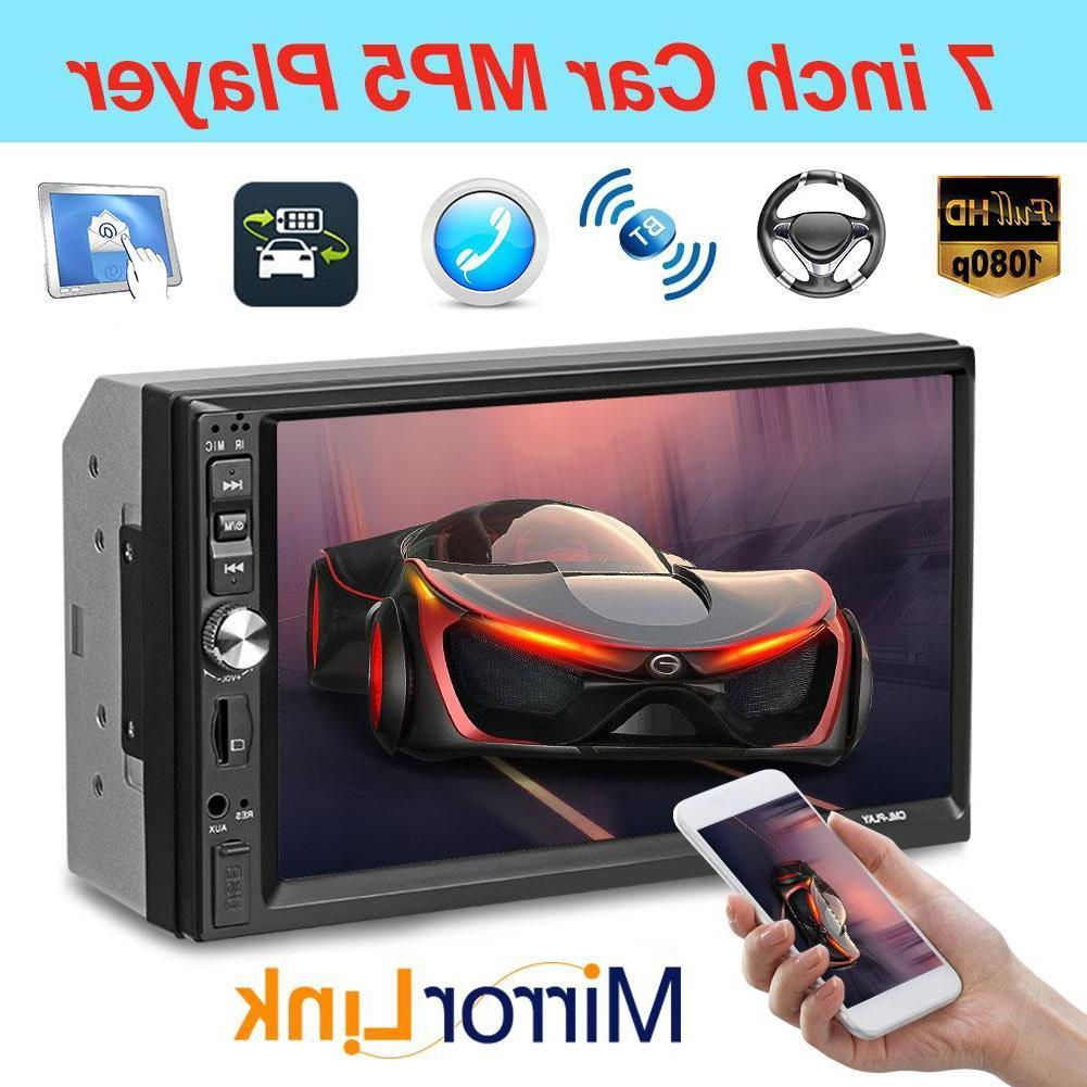 7inch double 2din screen hd car stereo