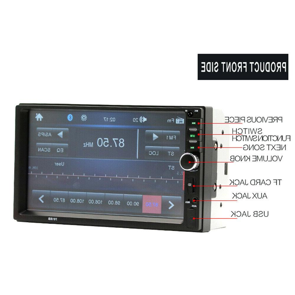 """7"""" Double Car Stereo Bluetooth AUX Camera"""