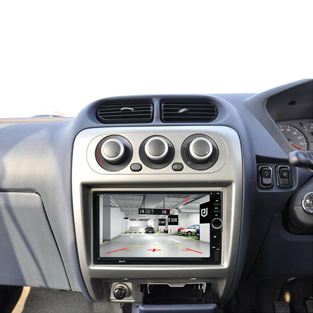"7"" 2 Car Bluetooth Screen USB AUX HOT"