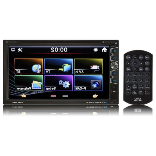 HD Dash Double 2 Din Stereo DVD CD Player High Touchscreen