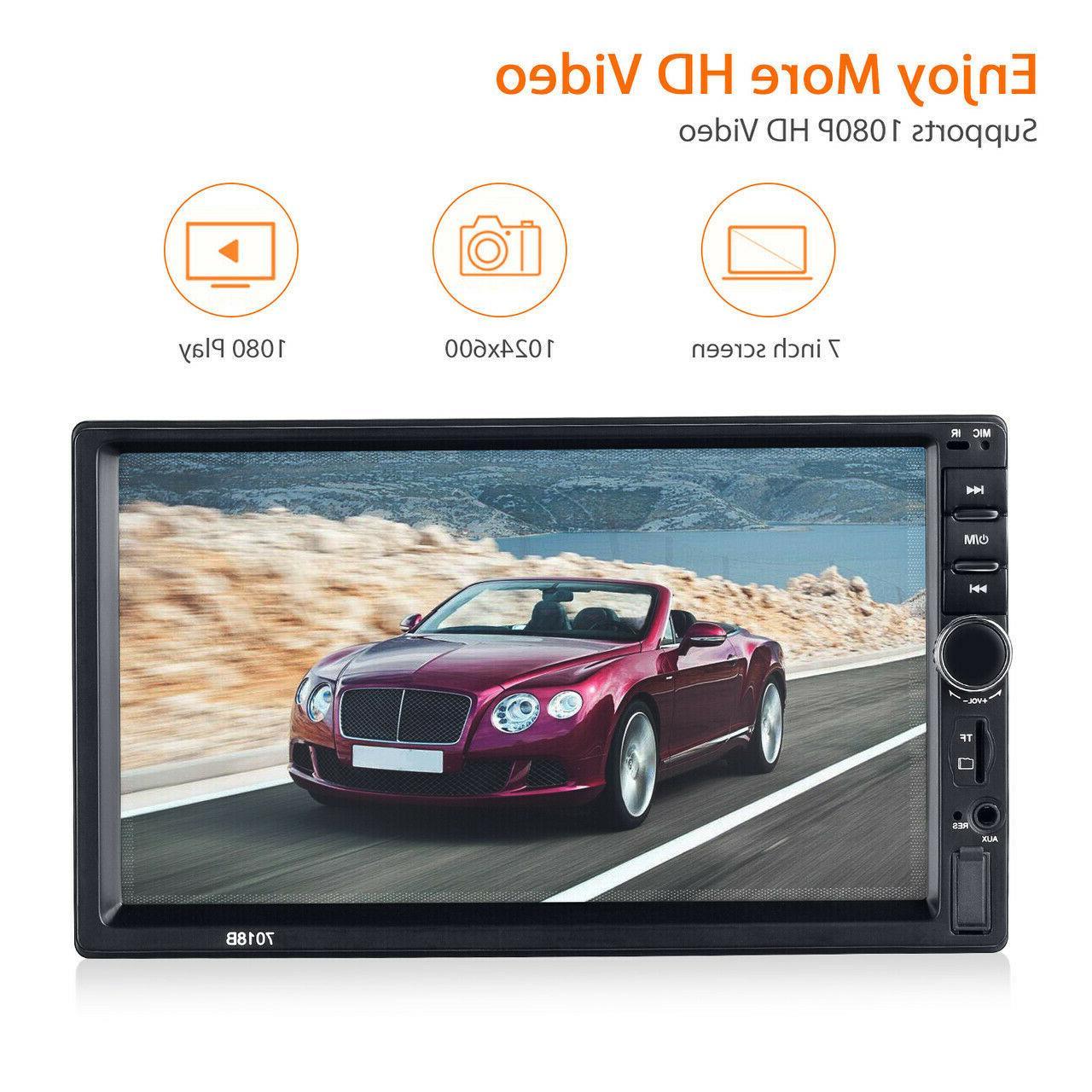 "7"" Double 2DIN Car MP5 Bluetooth Screen AUX"