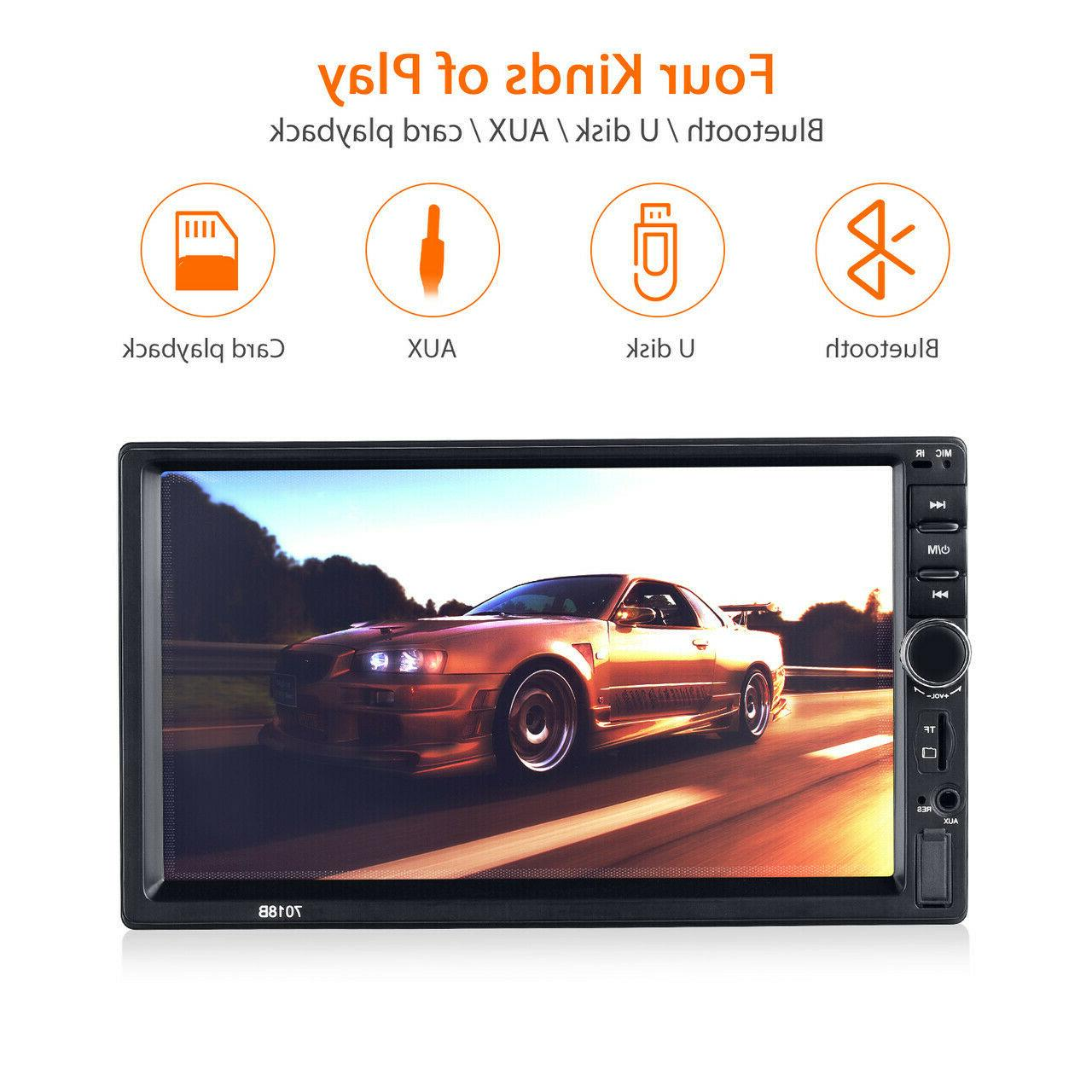"""7"""" 2DIN MP5 Player Screen Stereo Radio AUX"""