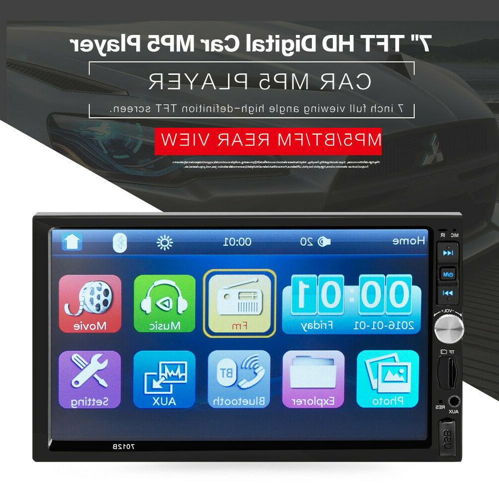 """7"""" Double 2Din Screen MP5 Player Bluetooth Mirror"""