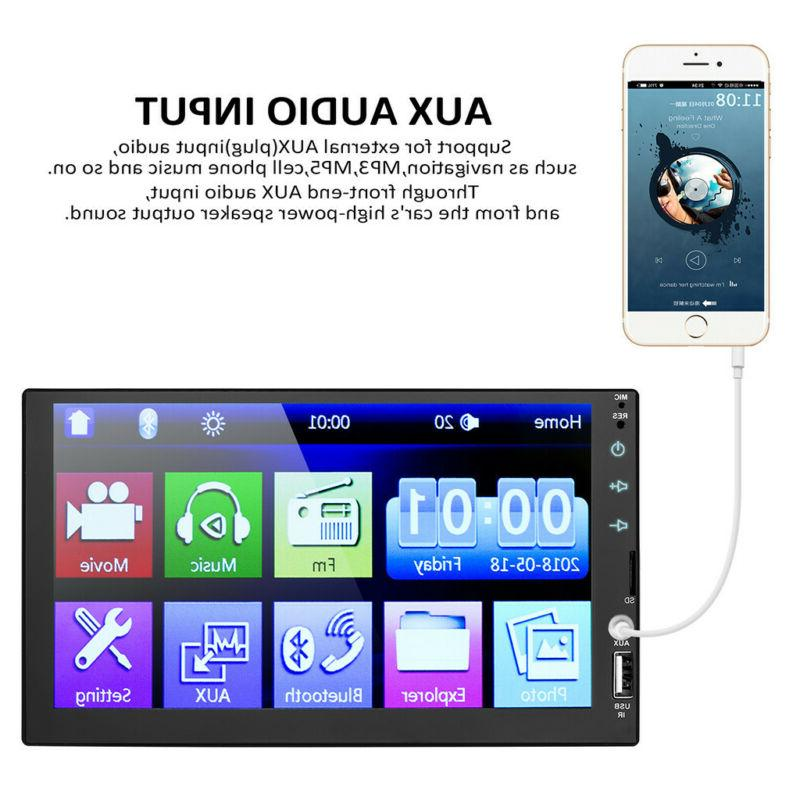 "7"" Stereo Radio HD Touch 2Din&CameraE"