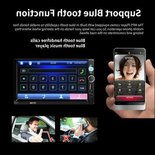 "7"" Inch Radio HD Touch Screen Bluetooth Radio 2Din&Camera"