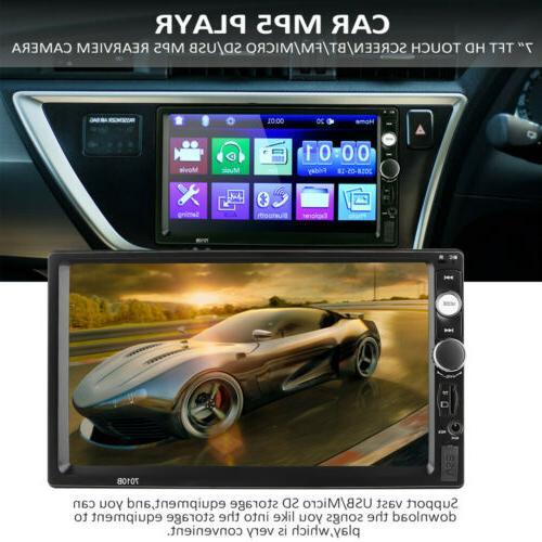 "7"" Car Radio Touch Screen Bluetooth Radio 2Din&Camera"