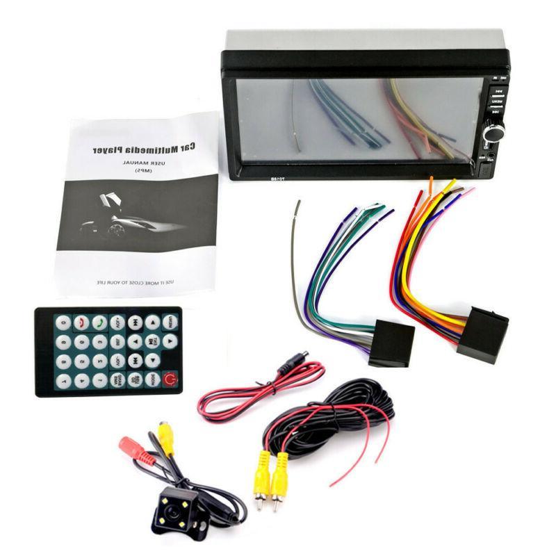 "7"" 2DIN Car Player Tou+ch Stereo Radio HD+Free Camera"