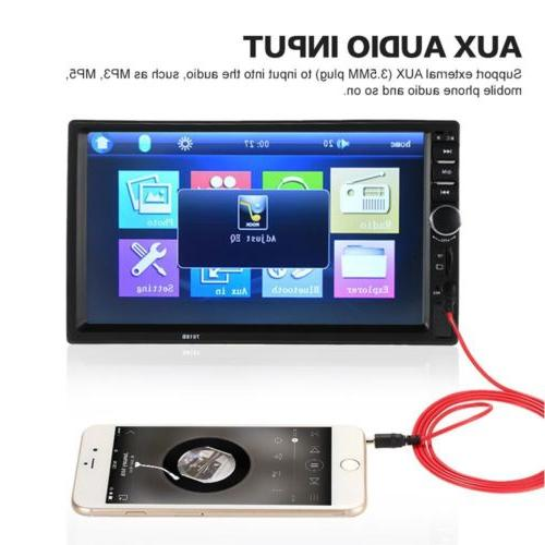 Car Bluetooth Audio Double Din Screen USB