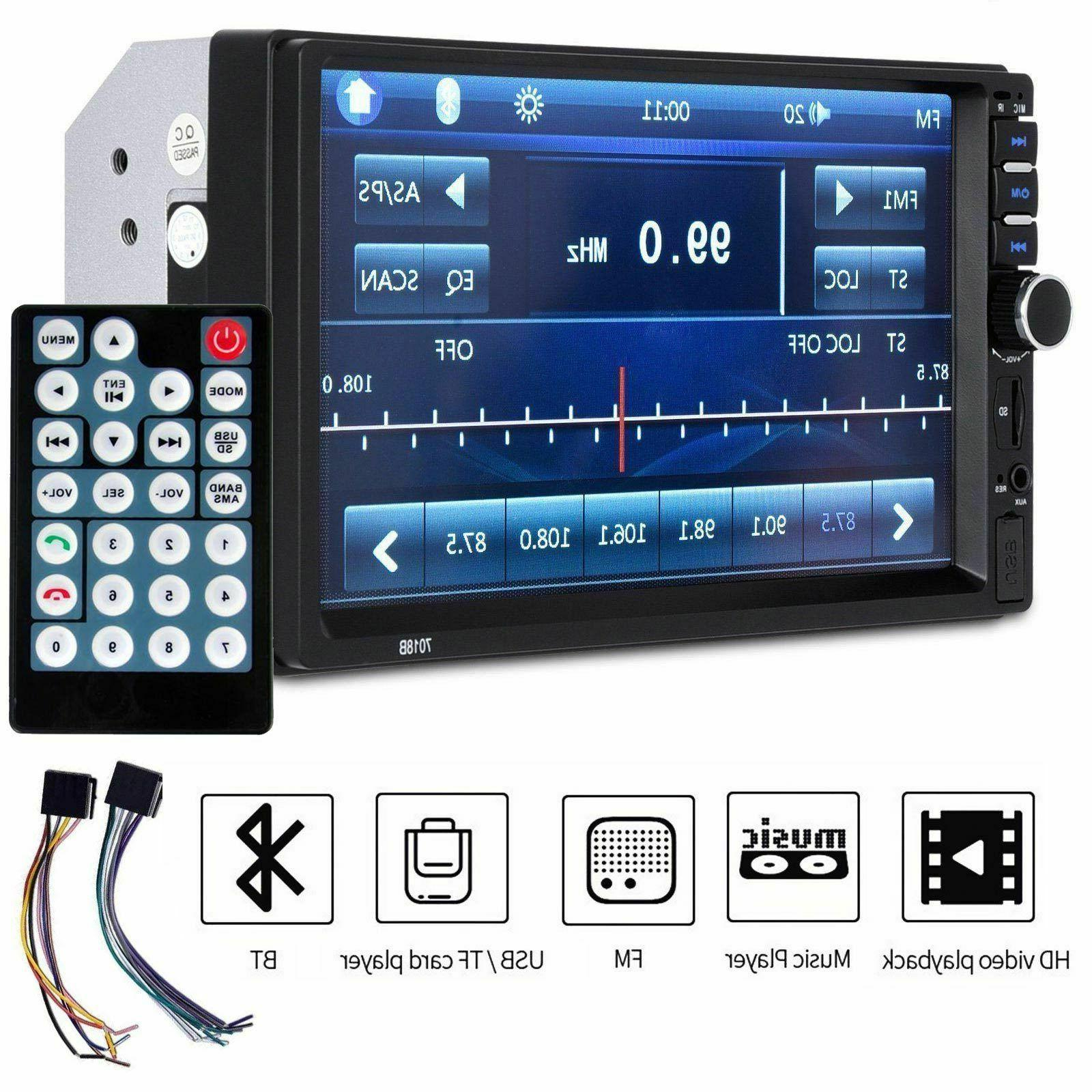 7 inch hd 2 din bluetooth touch