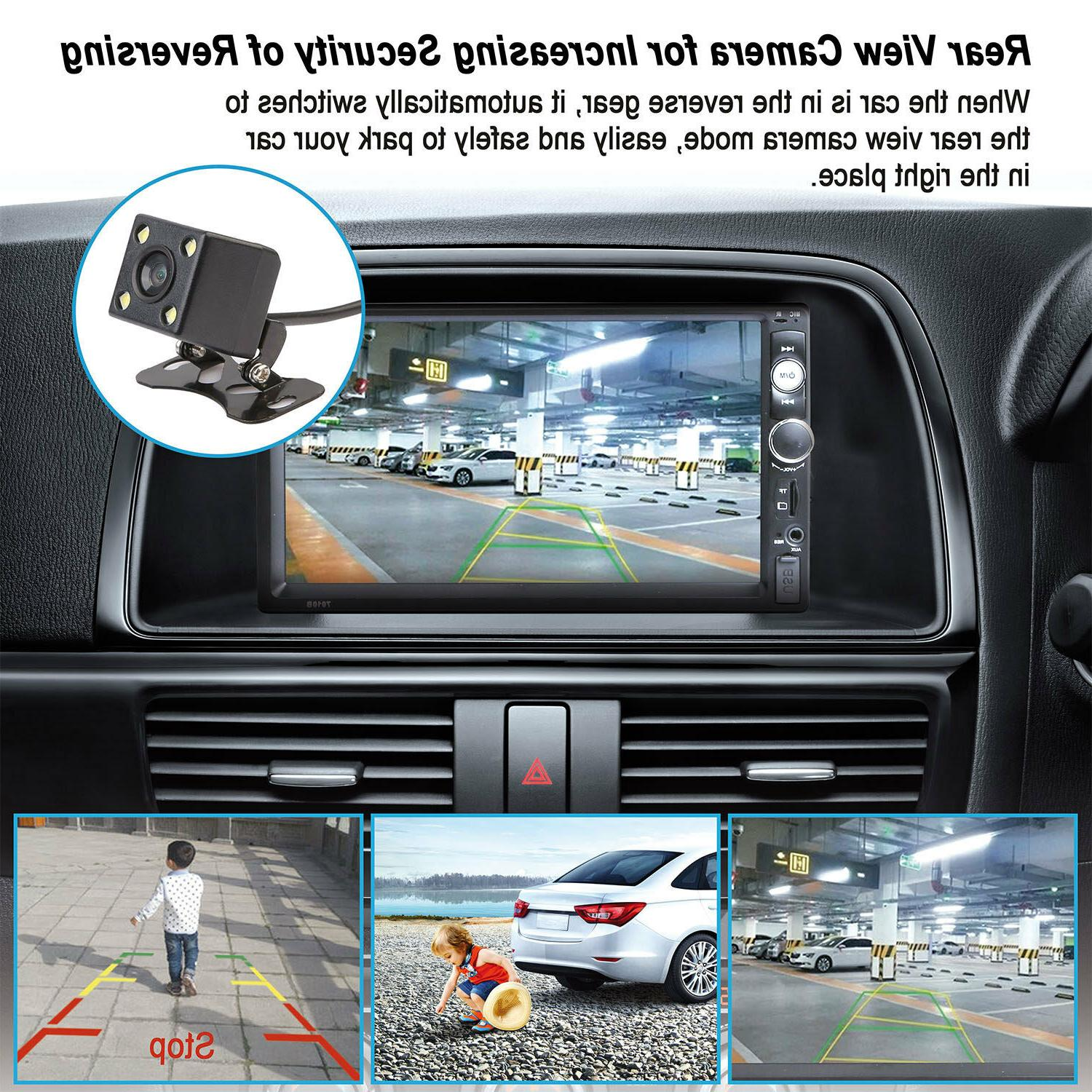 """7"""" MP5 Player Touch FM/AUX/USB/TF+Camera"""