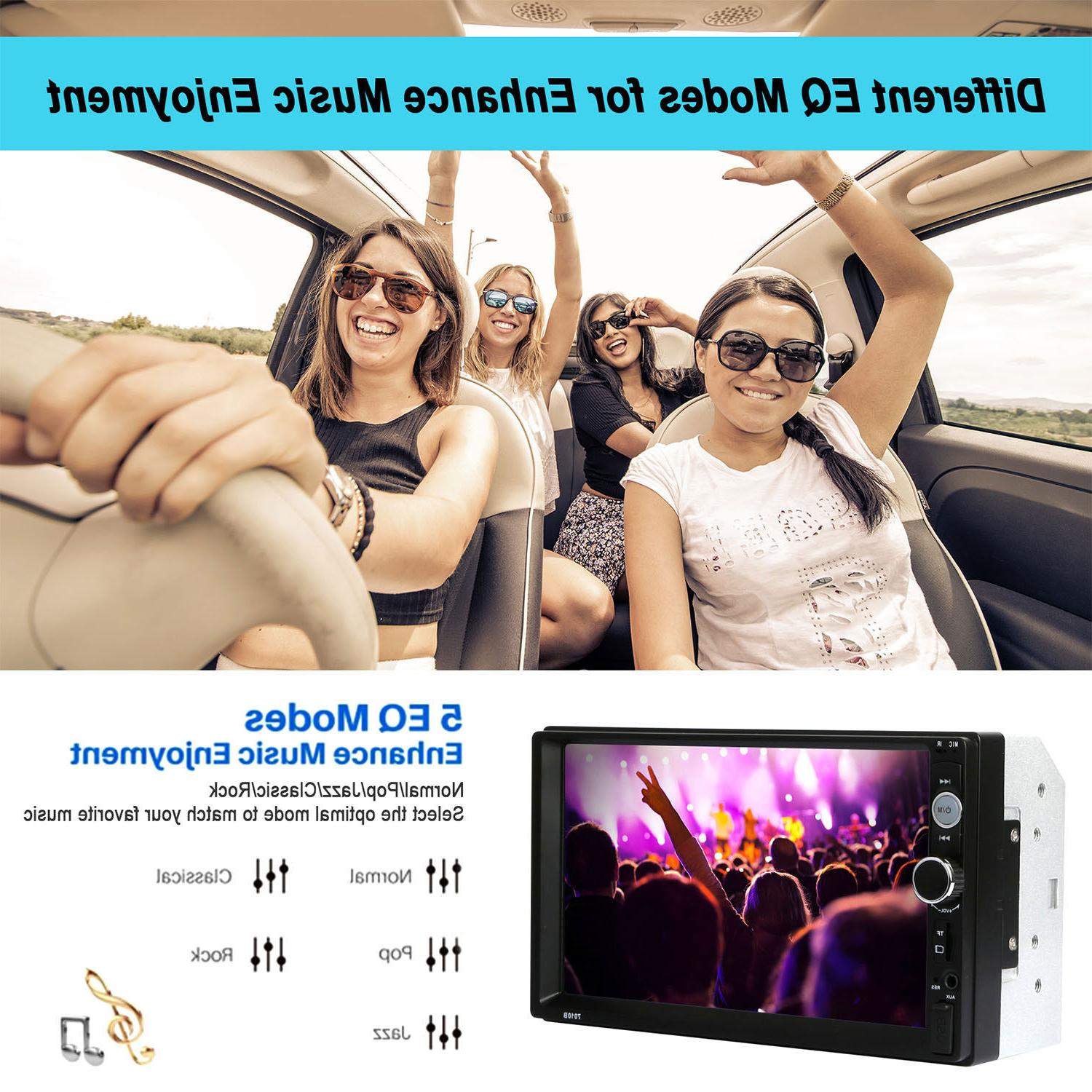 """7"""" Stereo Bluetooth Car MP5 Touch FM/AUX/USB/TF+Camera"""