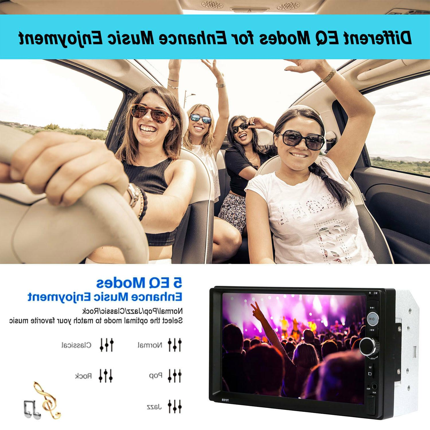 """7"""" Double 2 DIN Car Touch Stereo Radio FM USB US"""