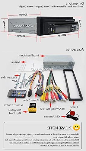 EinCar 7'' Touch Screen Car Stereo Navigation Bluetooth Single 1 CD Radio Audio System Camera
