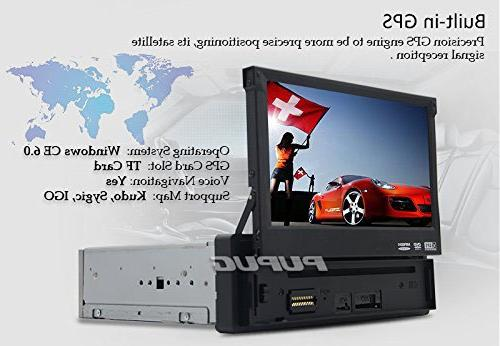 EinCar 7'' Screen Car Stereo Navigation In Dash Single CD AM Radio Remote Camera
