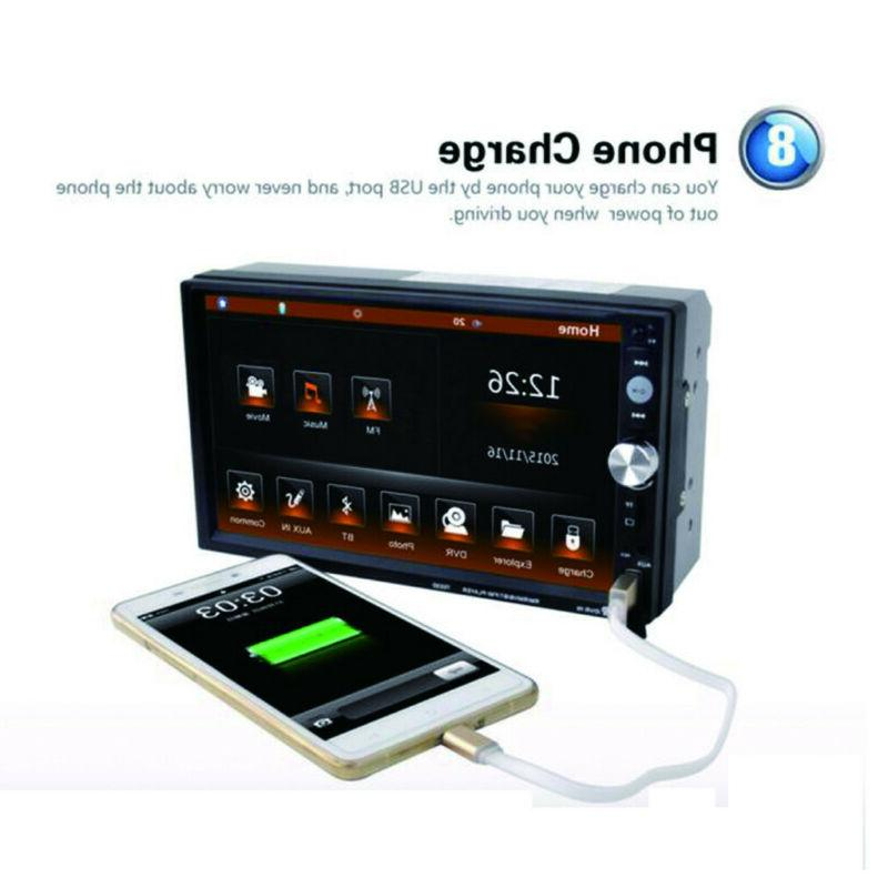 """7"""" Touch Screen Bluetooth Hands-free Stereo Player AUX"""