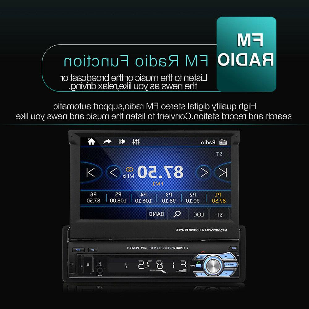 "7"" Screen MP5 Radio Single 1 DIN Flip Bluetooth +"
