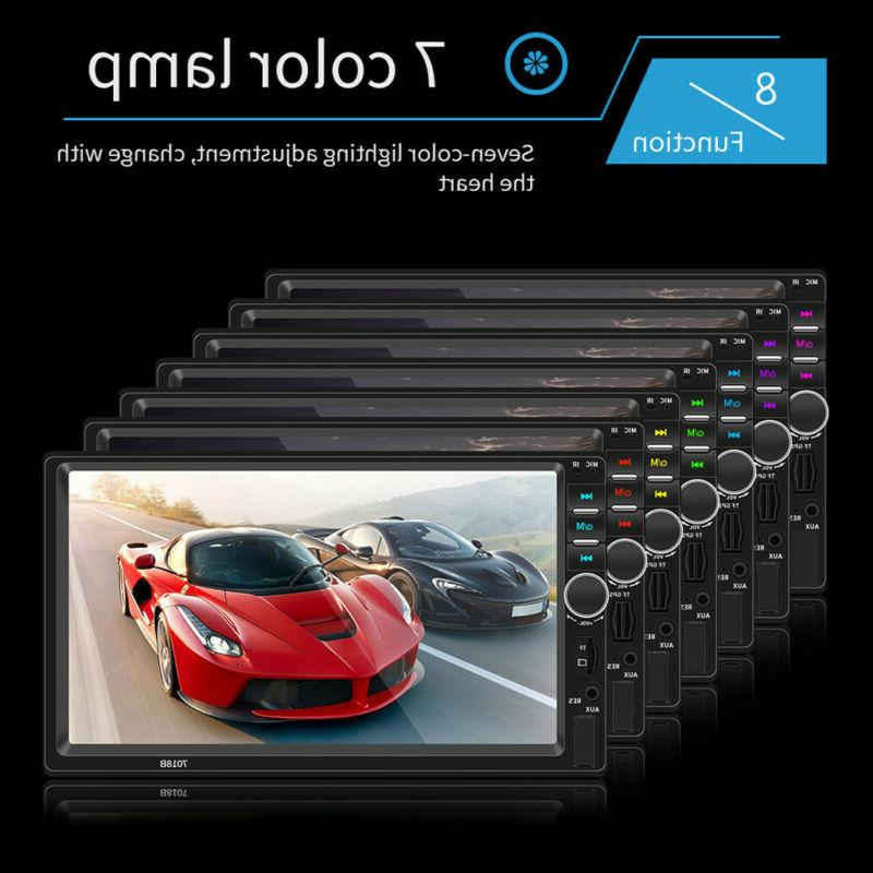 7inch BT Player Stereo Car HD MP5 Player Free Rear Camera