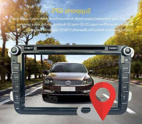 8inch Car GPS Radio BT For VolksWagen VW