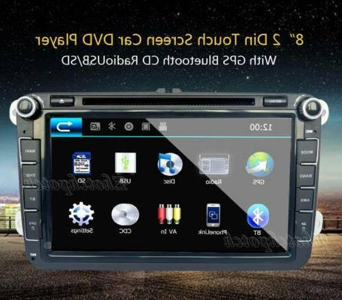 8inch Car DVD GPS Radio BT Handsfree For VW