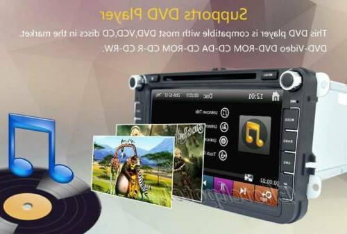 8inch Car GPS Navigation Radio BT VW