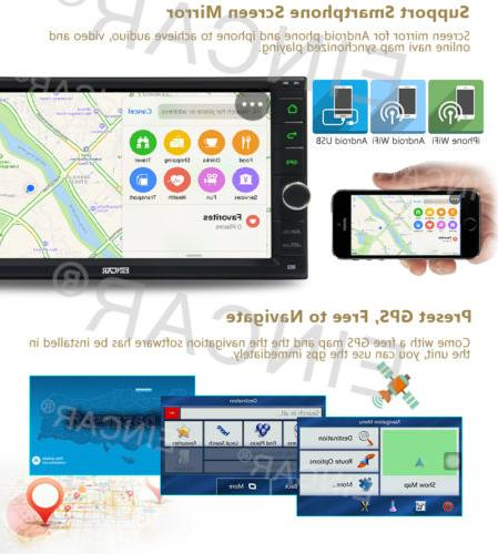 Android DIN Player BT Eincar GPS Nav