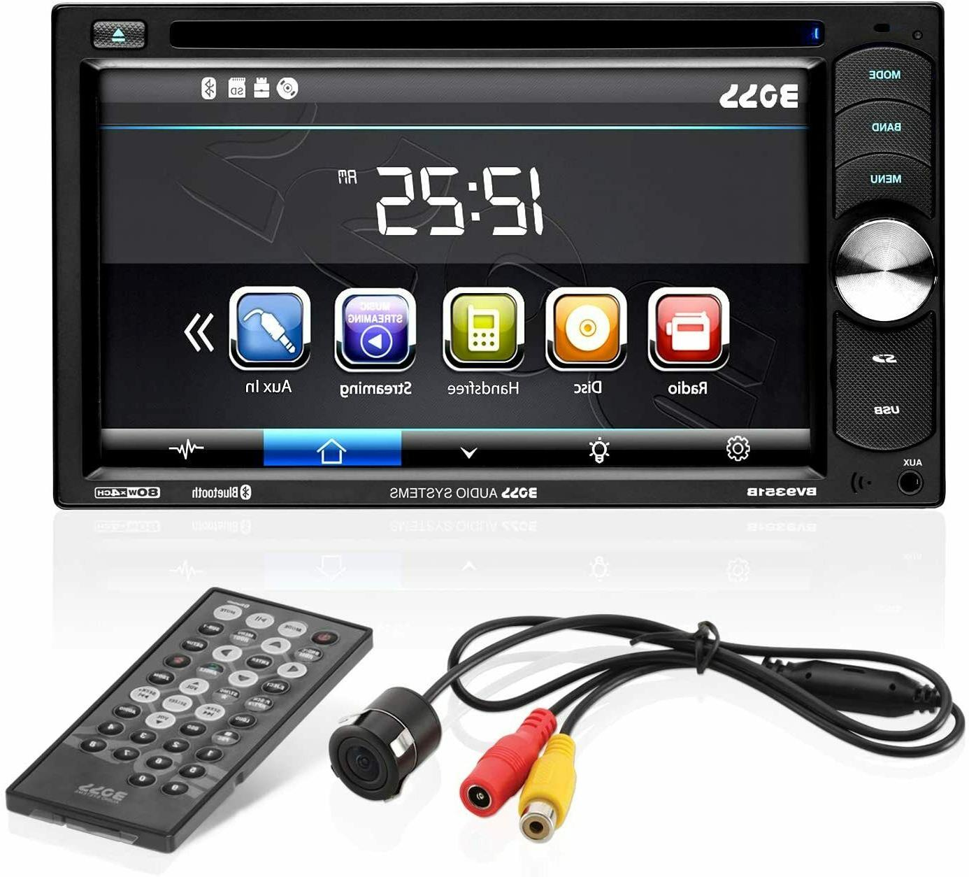 "Boss Double Car Receiver 6.2"" W/Backup Camera"