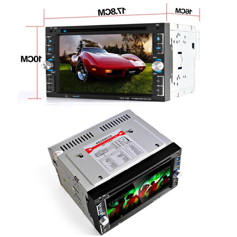 """Car Stereo Radio CD 6.2"""" Touch + Rear"""