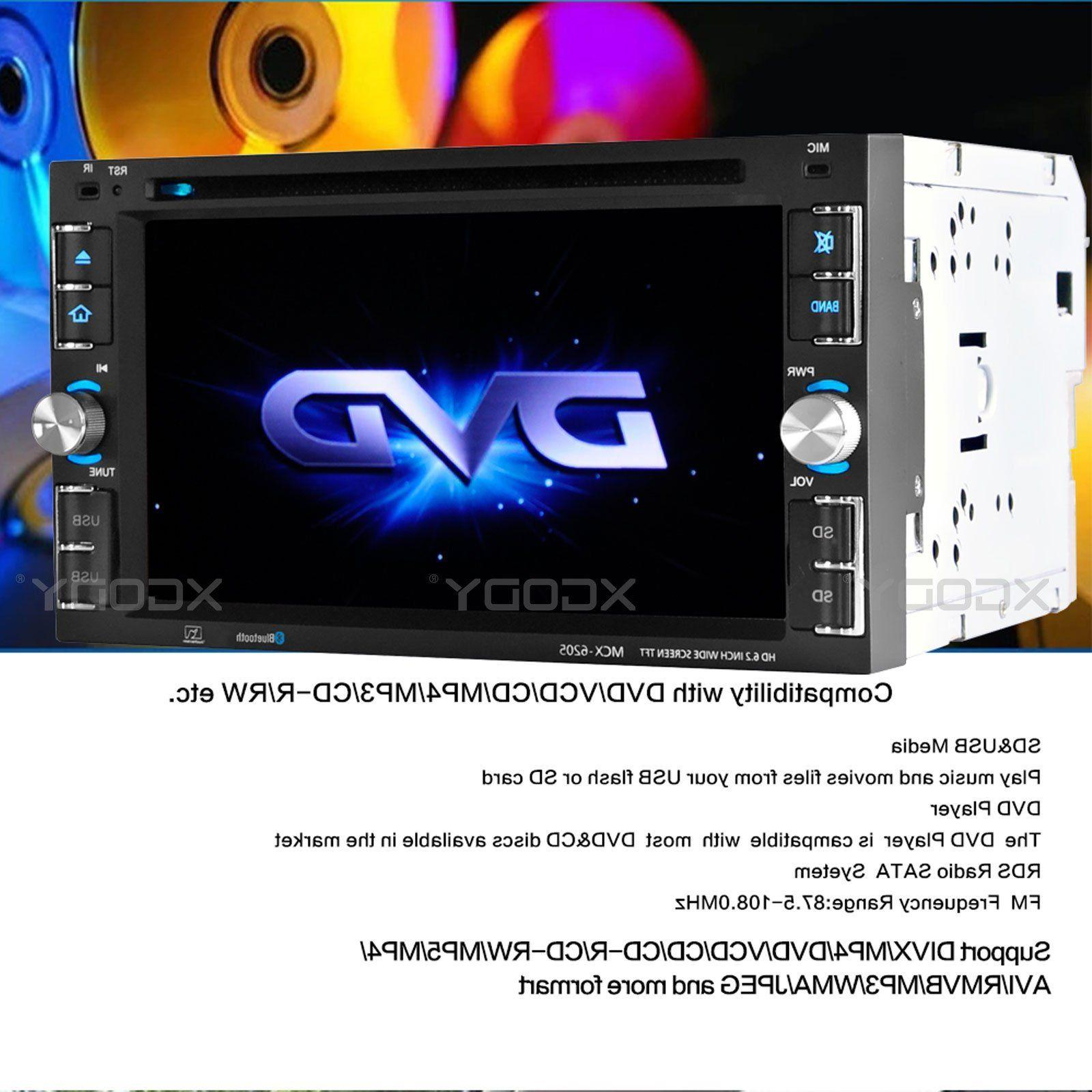 "6.2"" Touch Screen Car Stereo CD MP5 Player 2 USB"