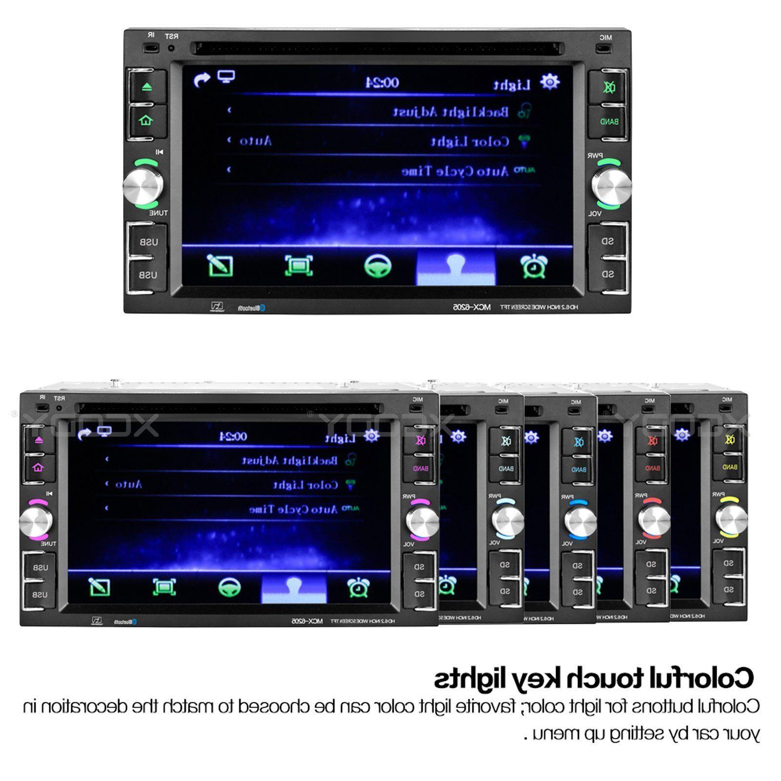 "6.2"" Touch Screen Car Stereo Radio DVD MP5 USB Bluetooth"